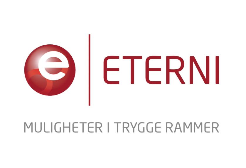 """Logo til Eternigruppen med slagordet """"muligheter i trygge rammer"""""""